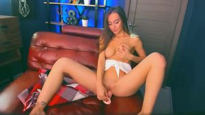 Girl Likes It On The Couch With Her Toy