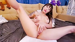 Hot Asian Girl Plays With Her Wet Pussy